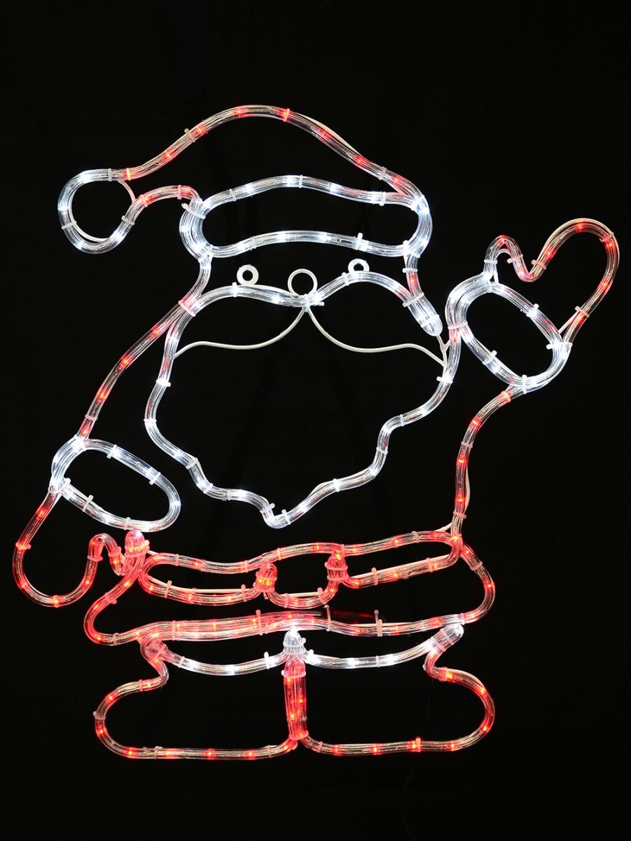 Standing saluting santa rope light silhouette 67cm christmas standing saluting santa rope light silhouette 67cm aloadofball Images