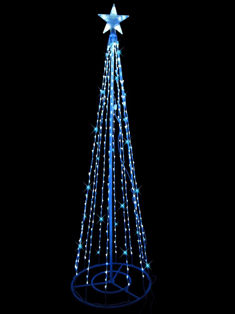 Blue Amp Cool White 3d Christmas Tree 2m Christmas