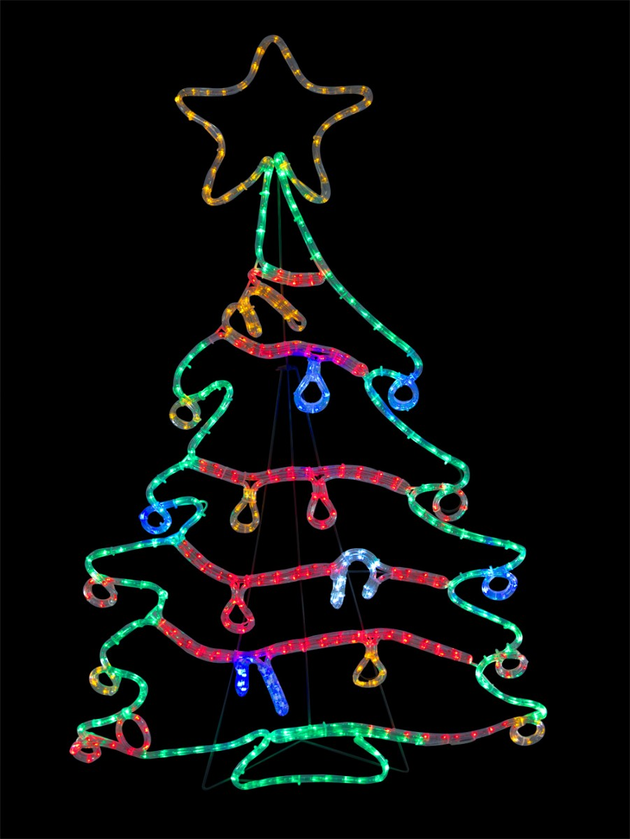 Rope light silhouettes led christmas tree with for 30 lighted nativity christmas window silhouette decoration