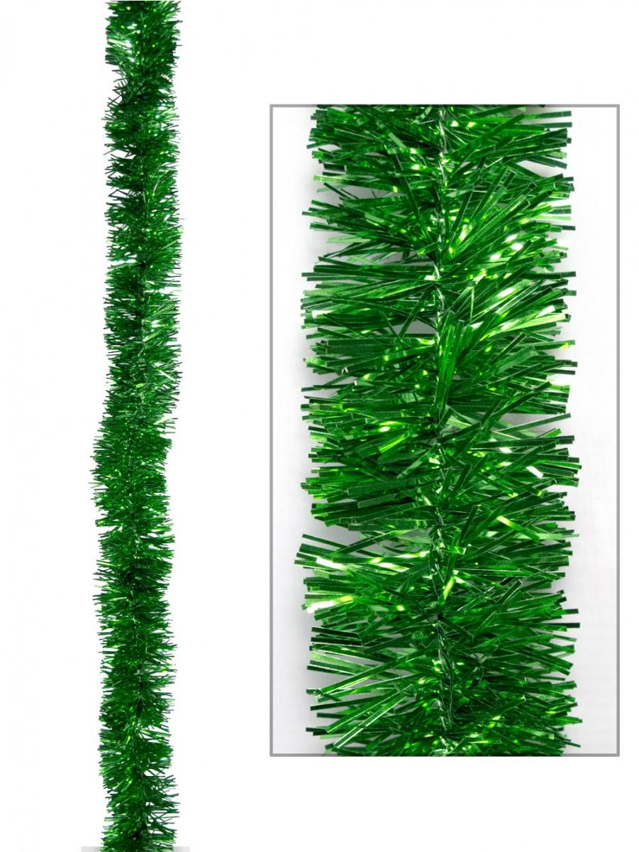 Green metallic ply tinsel garland mm m garlands