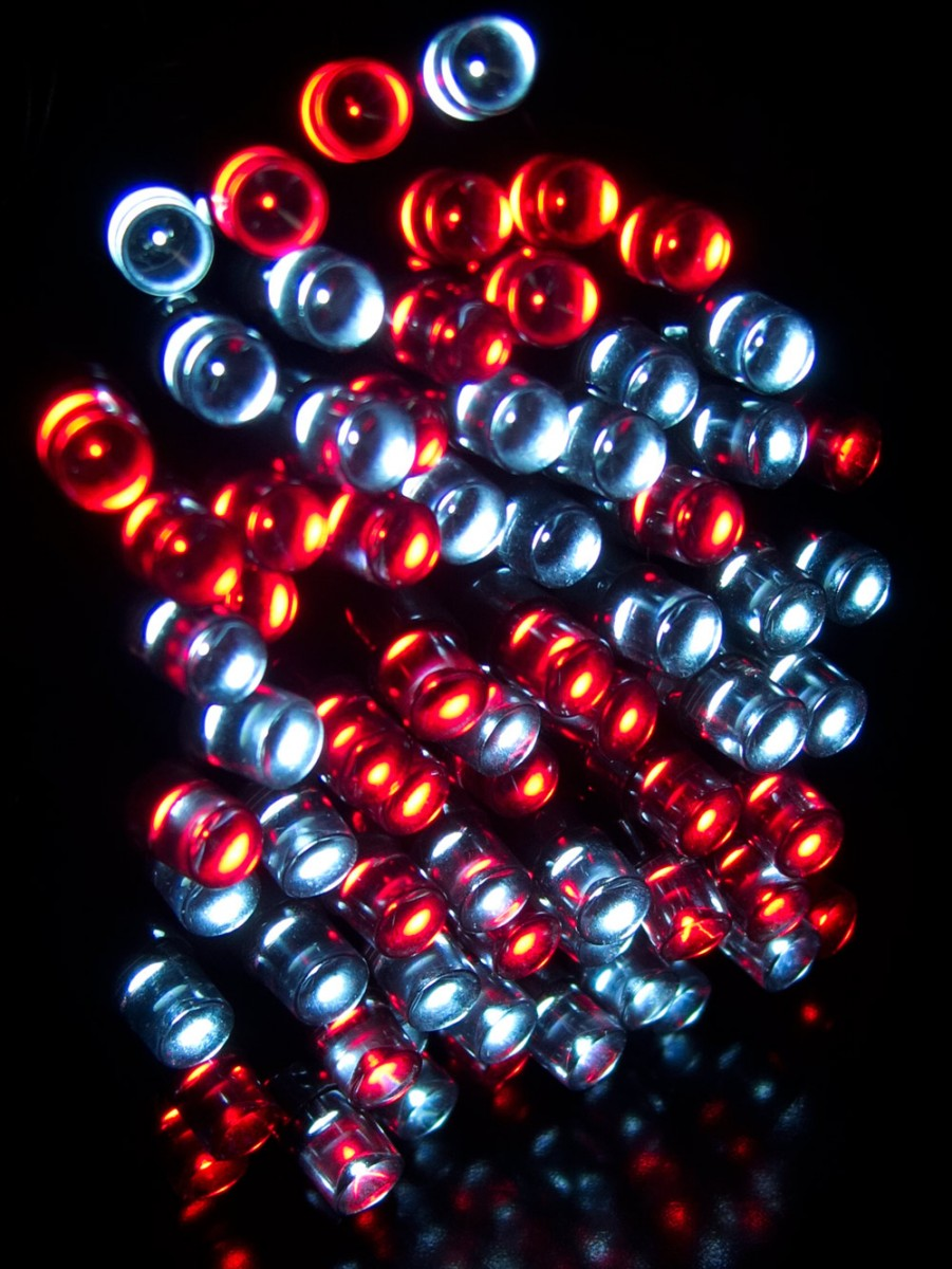 500 red cool white super bright led string light 25m. Black Bedroom Furniture Sets. Home Design Ideas