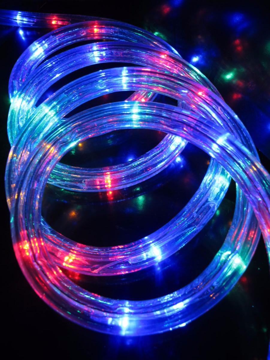 Multi Colour Led Tube Rope Light 30m Christmas Lights The