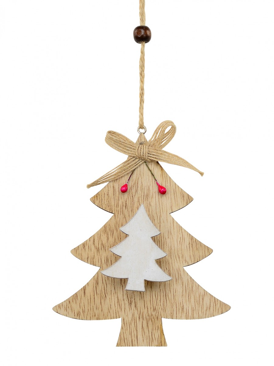 Natural White Wood Christmas Tree With Peg Clip Hanging Decoration 12cm Ornaments Buy Online From The Christmas Warehouse