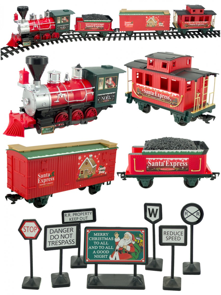 Christmas Train Set.Santa Express Deluxe Train Set 27 Piece Animation Toys