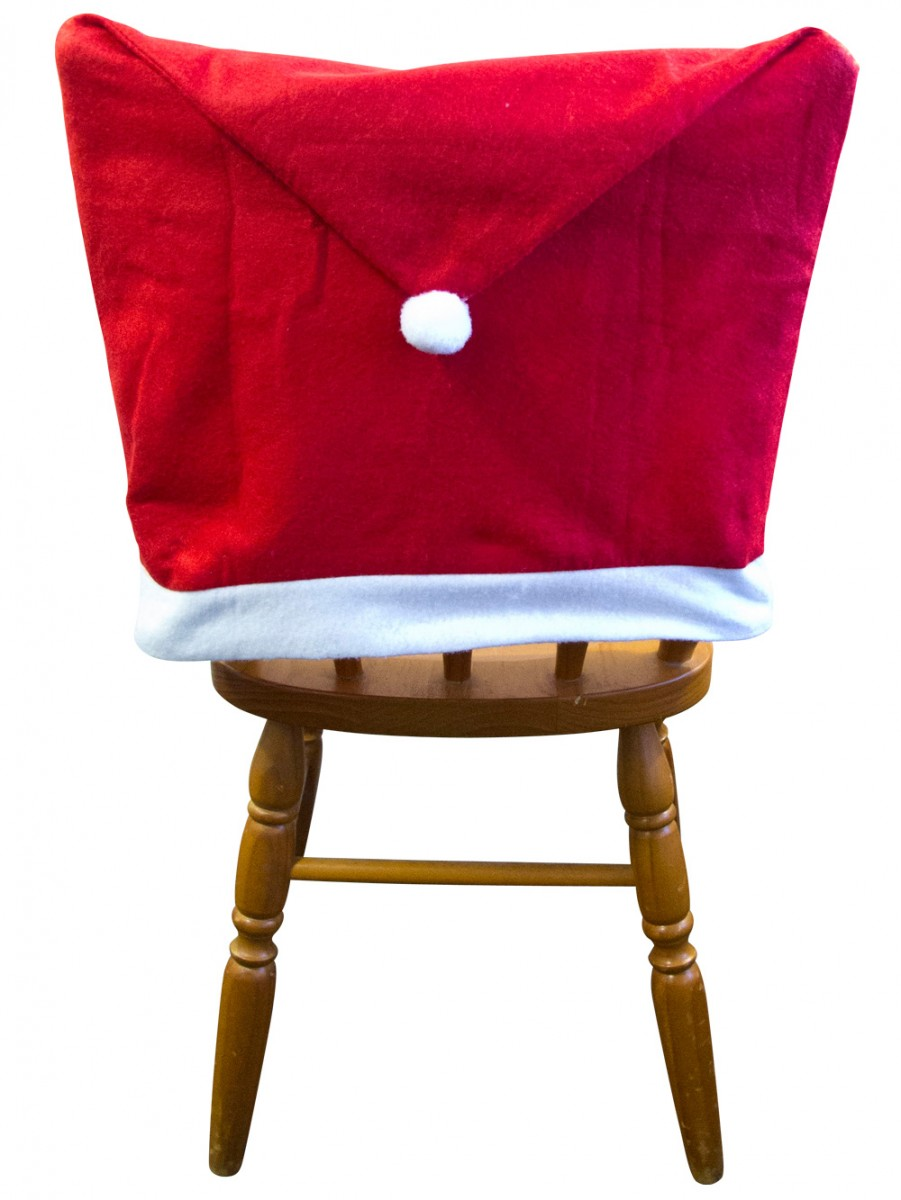 Christmas chair covers - Santa Hat Chair Covers 4 Pack