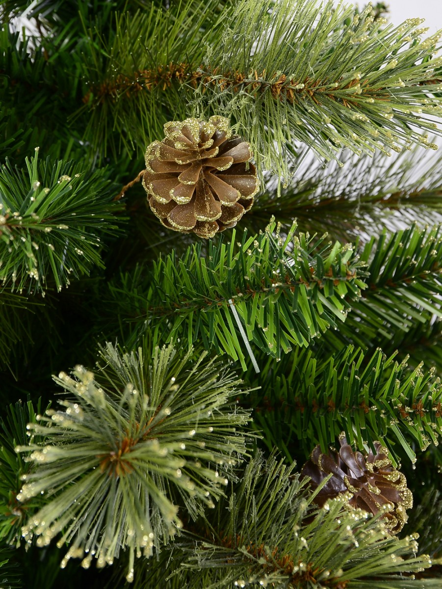 Dawn Light Dew Christmas Tree With Pine Cones & 1164 Tips ...