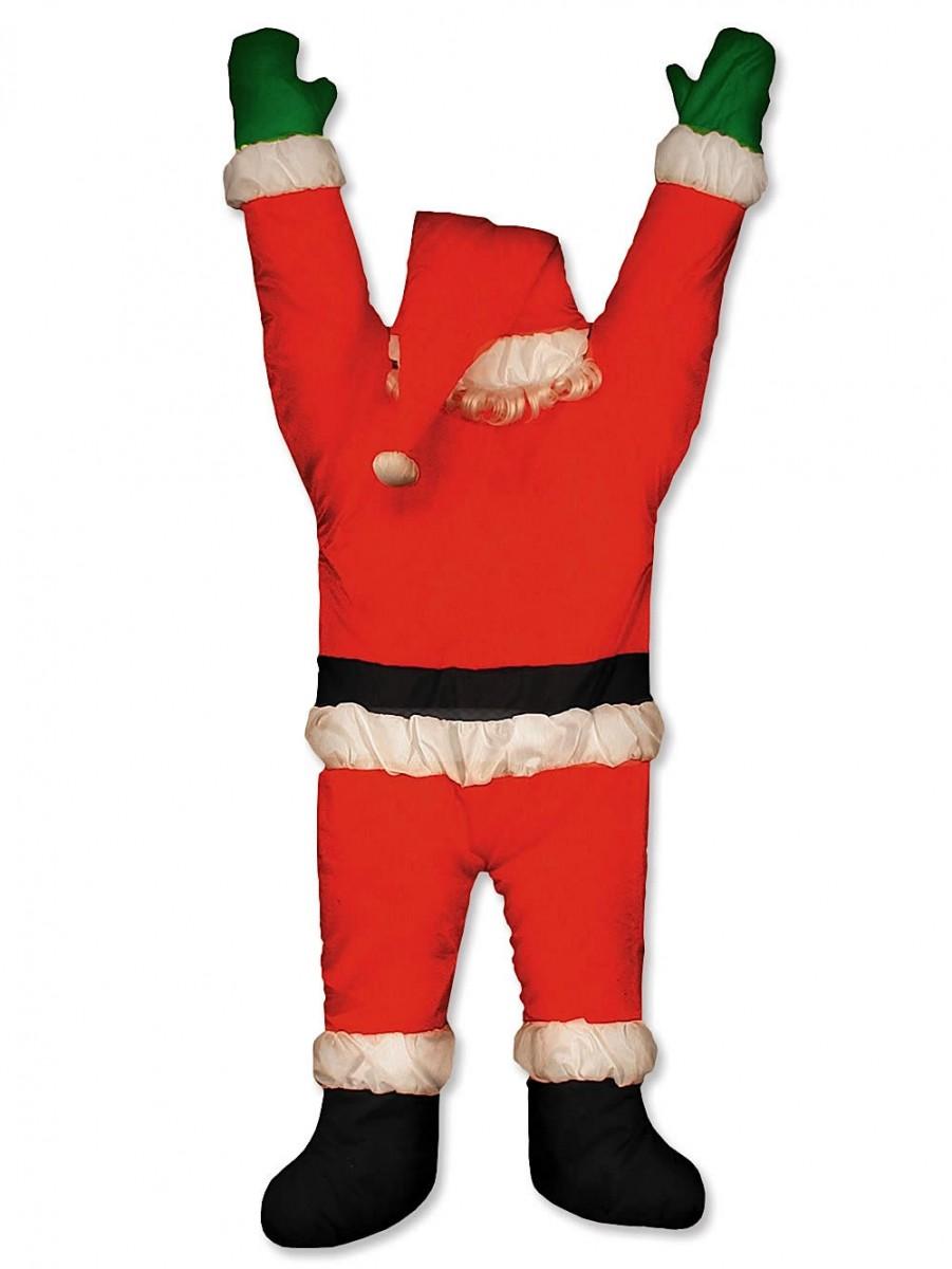 Santa Hanging From Door Guttering Outdoor Decoration 1