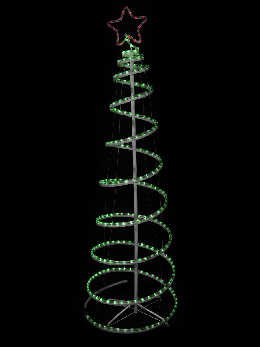 Green with red star 3d led spiral rope light tree 18m christmas almost sold out green with red star 3d led spiral rope light tree 18m aloadofball Gallery