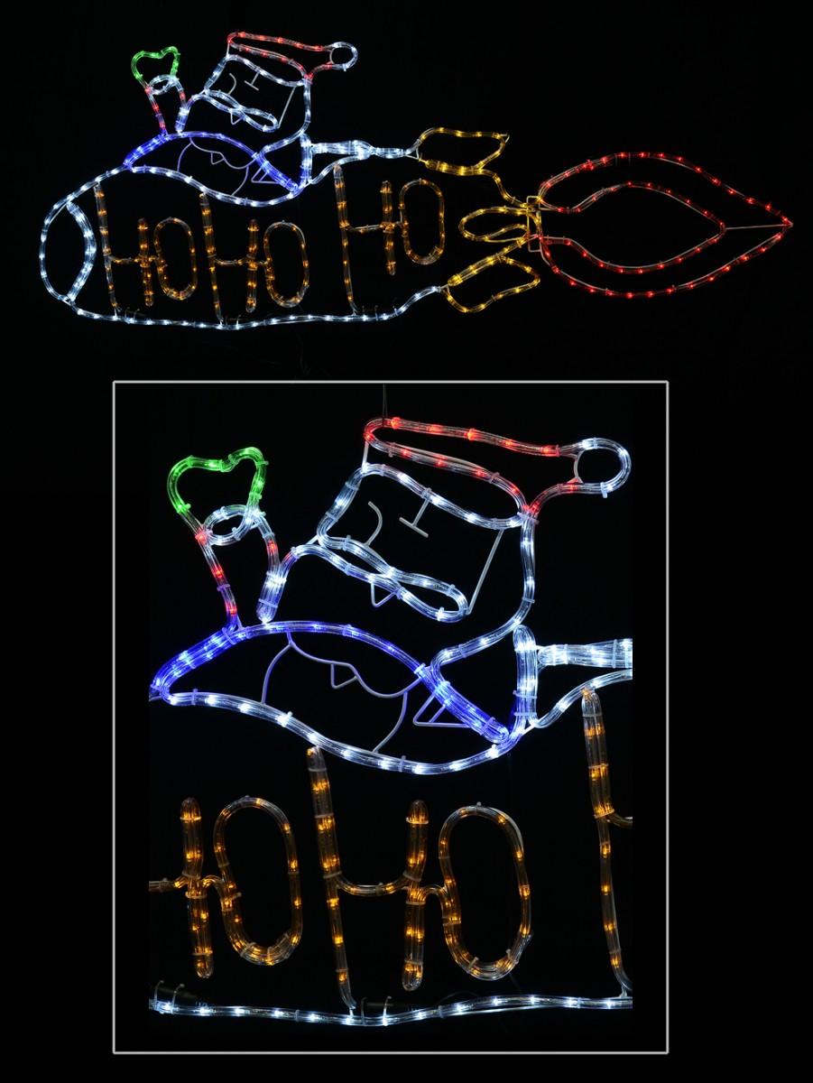 Rocketman ho ho ho santa rope light silhouette 16m christmas rocketman ho ho ho santa rope light silhouette 16m aloadofball Images