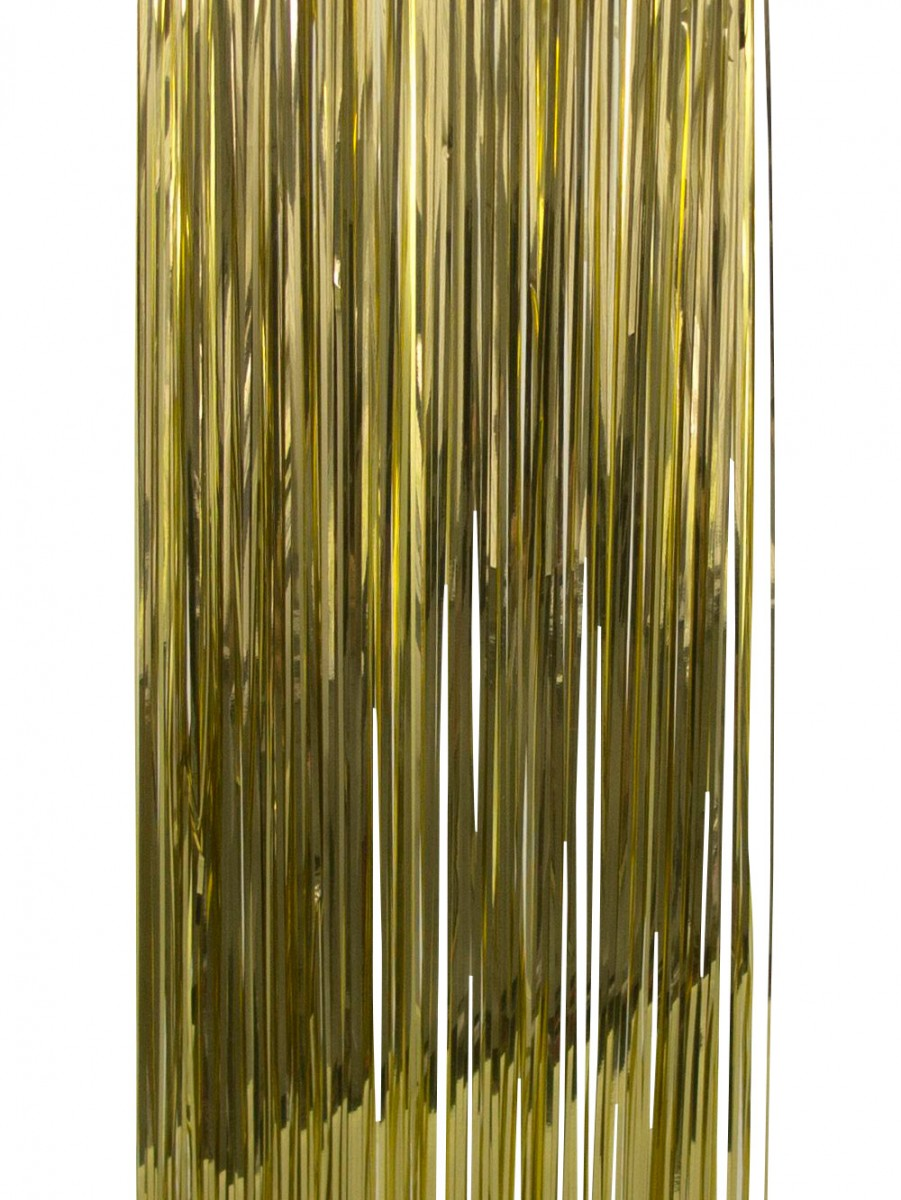 Gold lametta tinsel icicles strands christmas