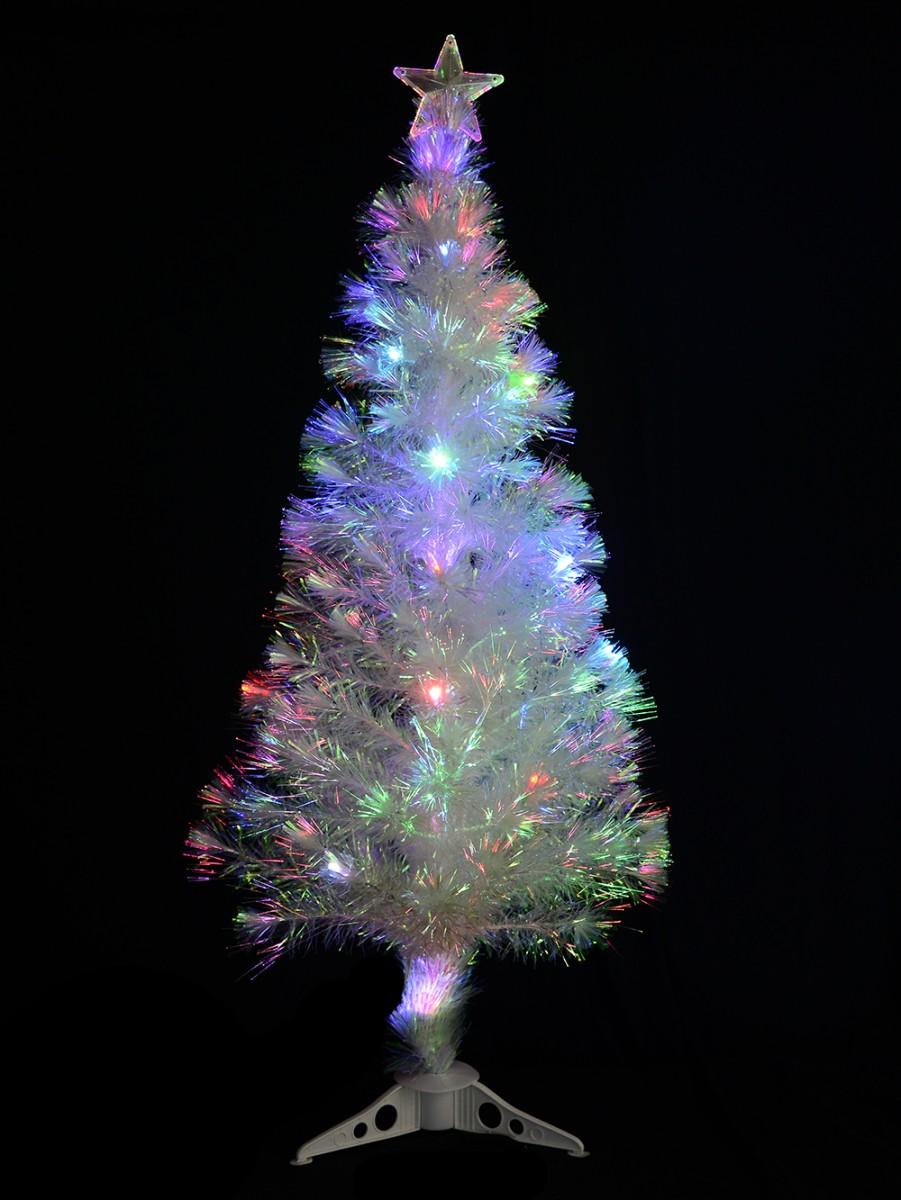 decorated iridescent fibre optic tree 12m - Iridescent Christmas Tree Decorations