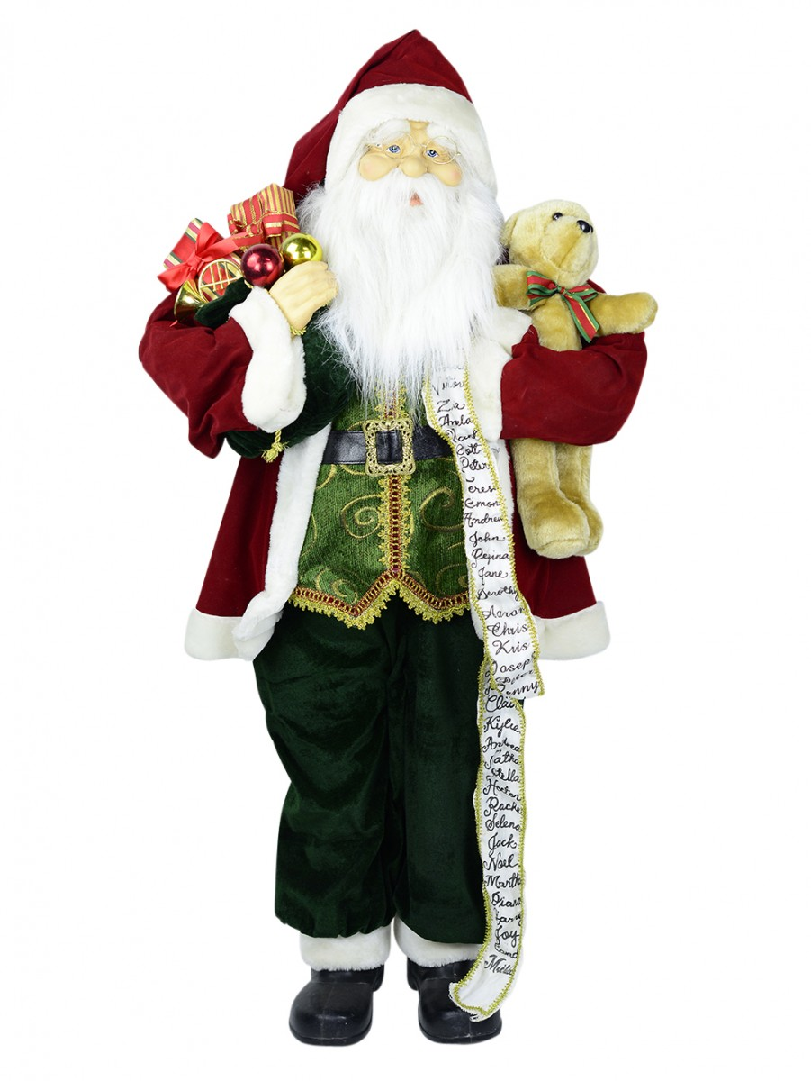 life size free standing santa with sack 1 2m ornaments the