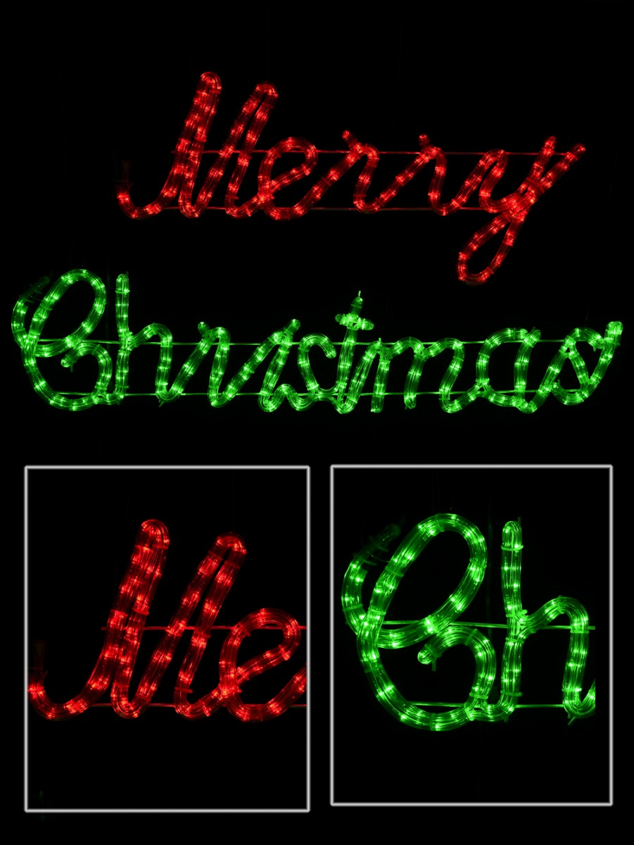 merry christmas led rope light in red white with controller 98cm