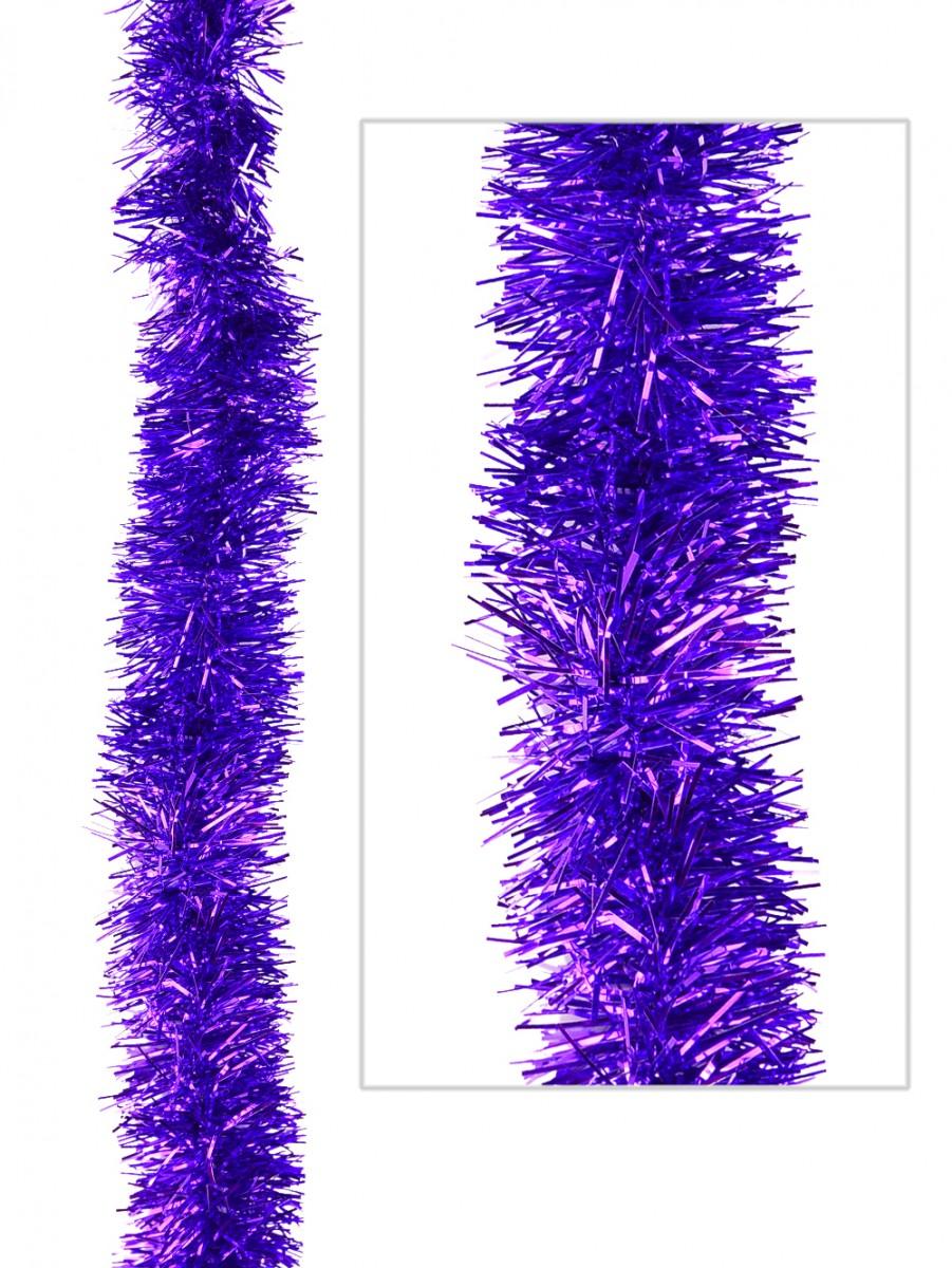 Purple metallic ply tinsel garland mm m garlands