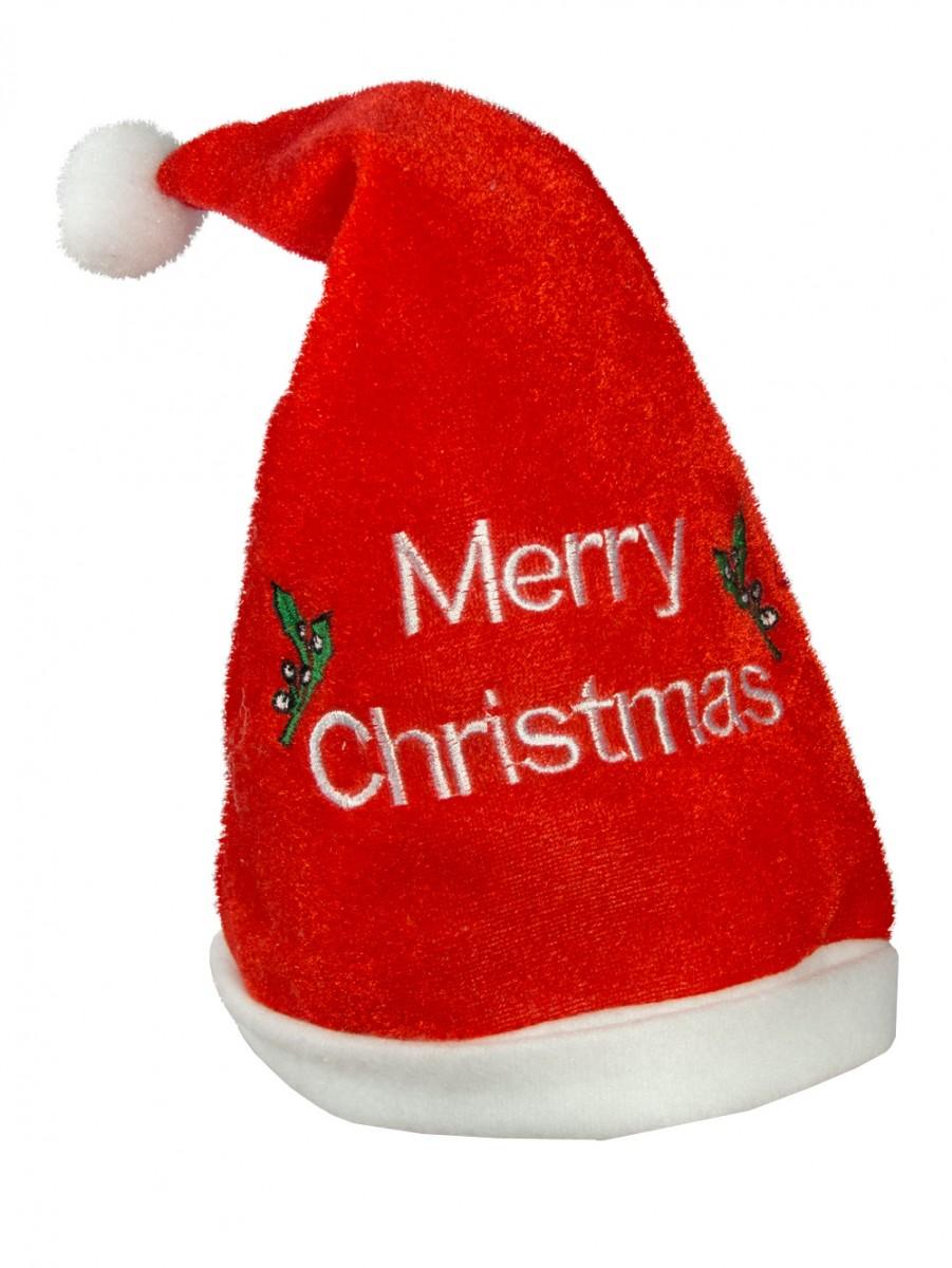 Babies merry christmas santa hat ho bib peice