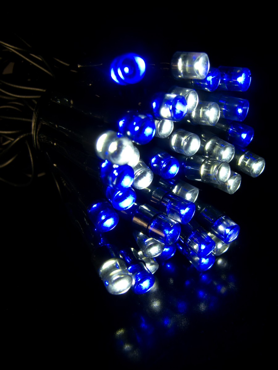 300 blue cool white superbright twinkle led string light for White twinkle christmas lights