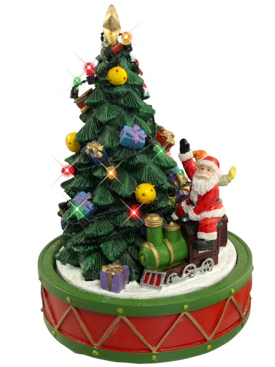 selling fast santa on train rotating around christmas tree ornament 17cm - Train For Around Christmas Tree