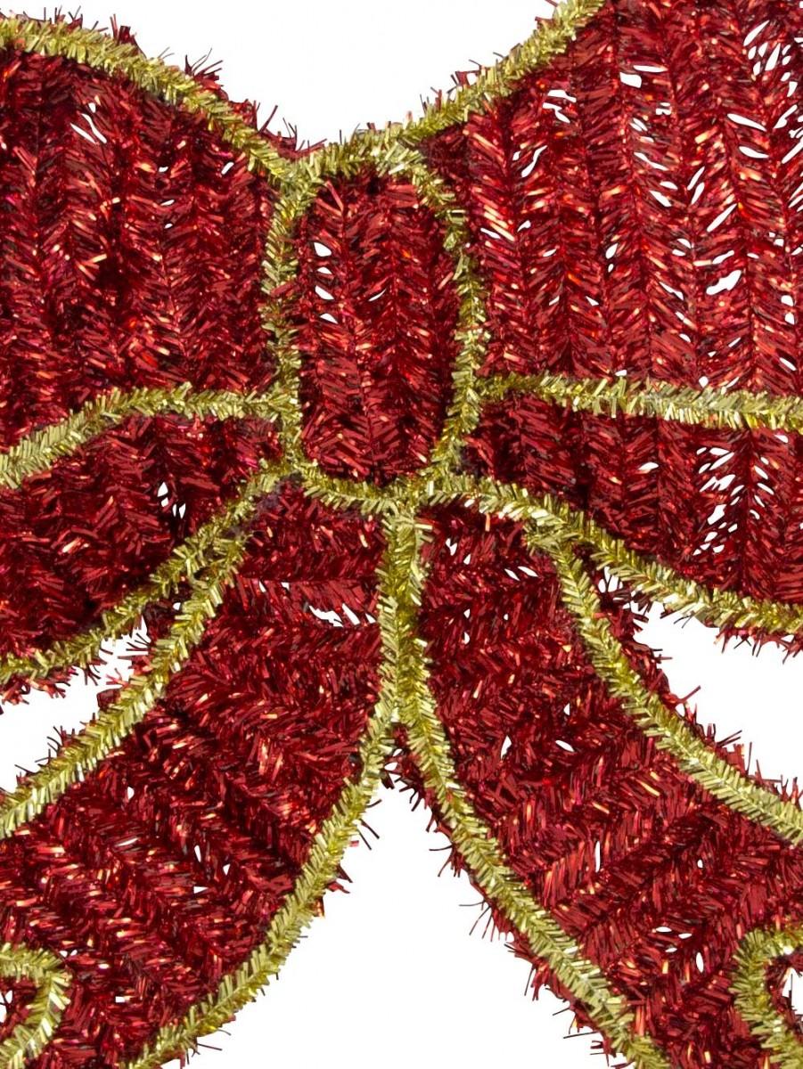 Metallic tinsel bow hanging decoration cm garlands