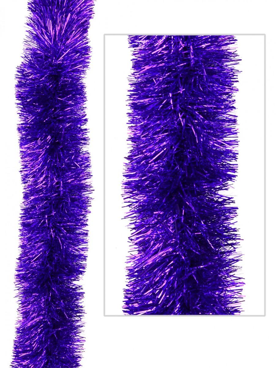 Purple metallic ply tinsel garland cm m garlands