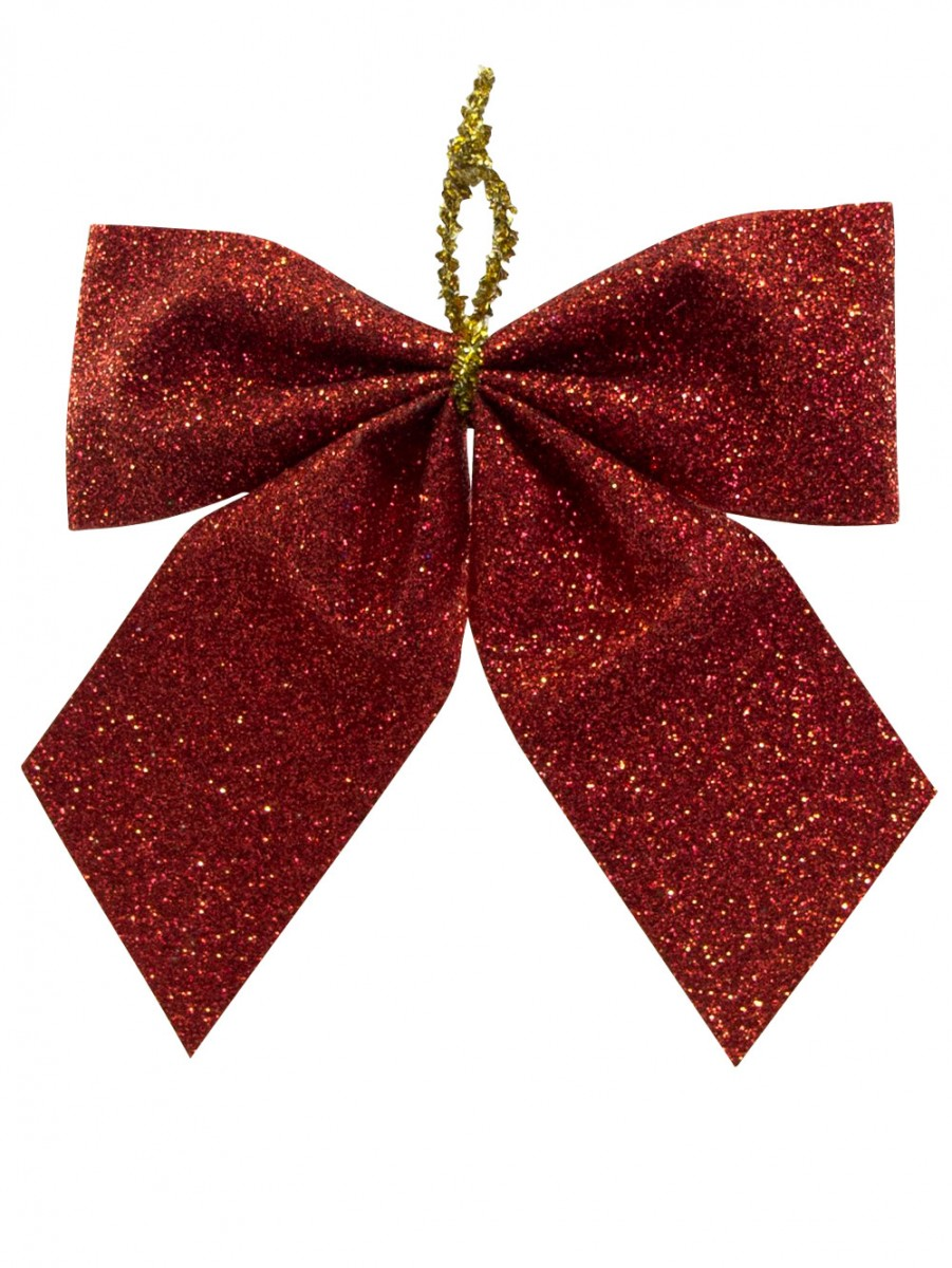 Christmas Decorations Red Bows : Small red bow decoration mm christmas