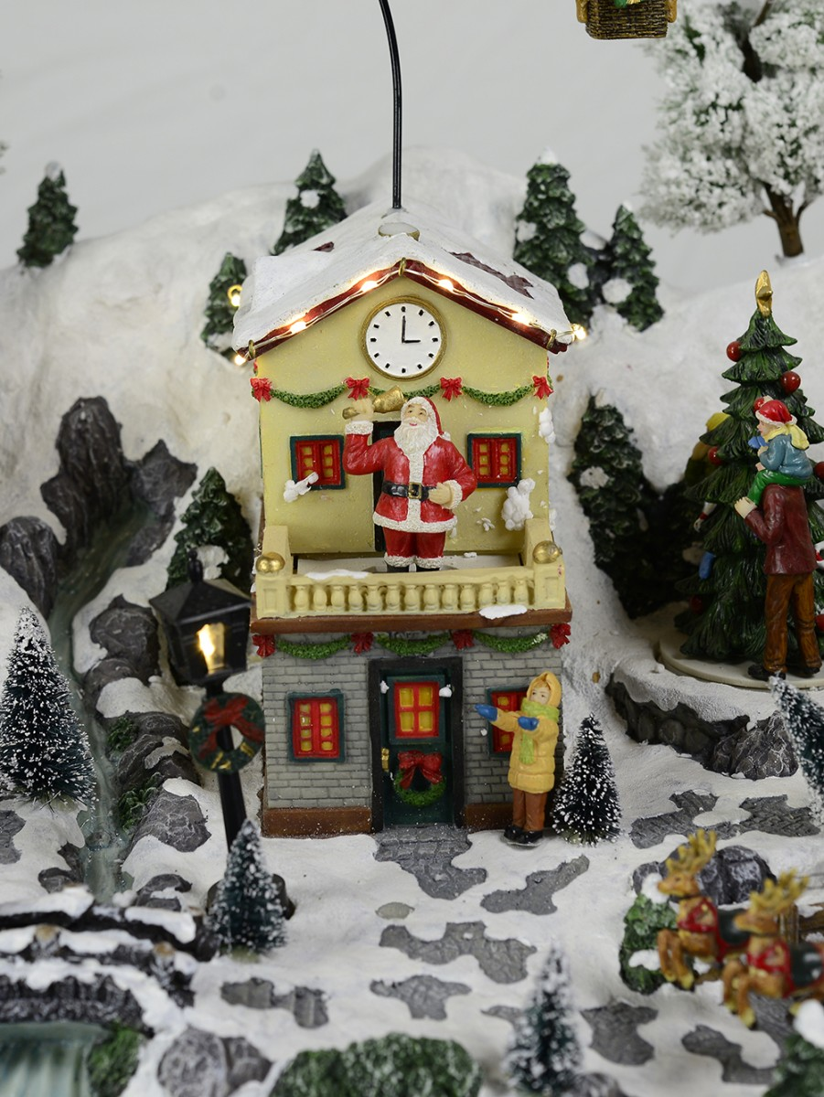 Christmas Musical Scenes Ornaments Part - 48: ... Animated U0026 Musical North Pole Village Scene Ornament ...