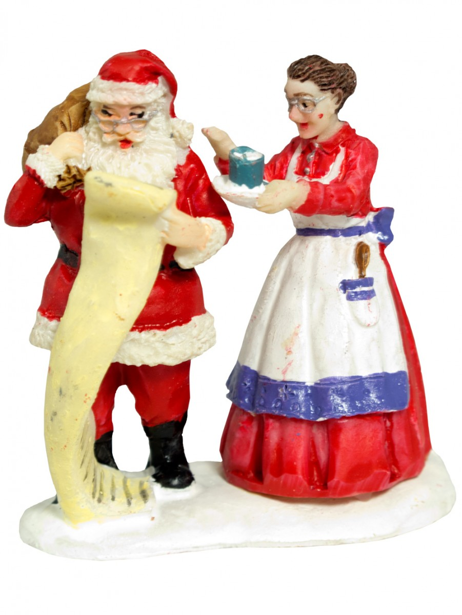 Resin santa mrs claus figurine mm ornaments the