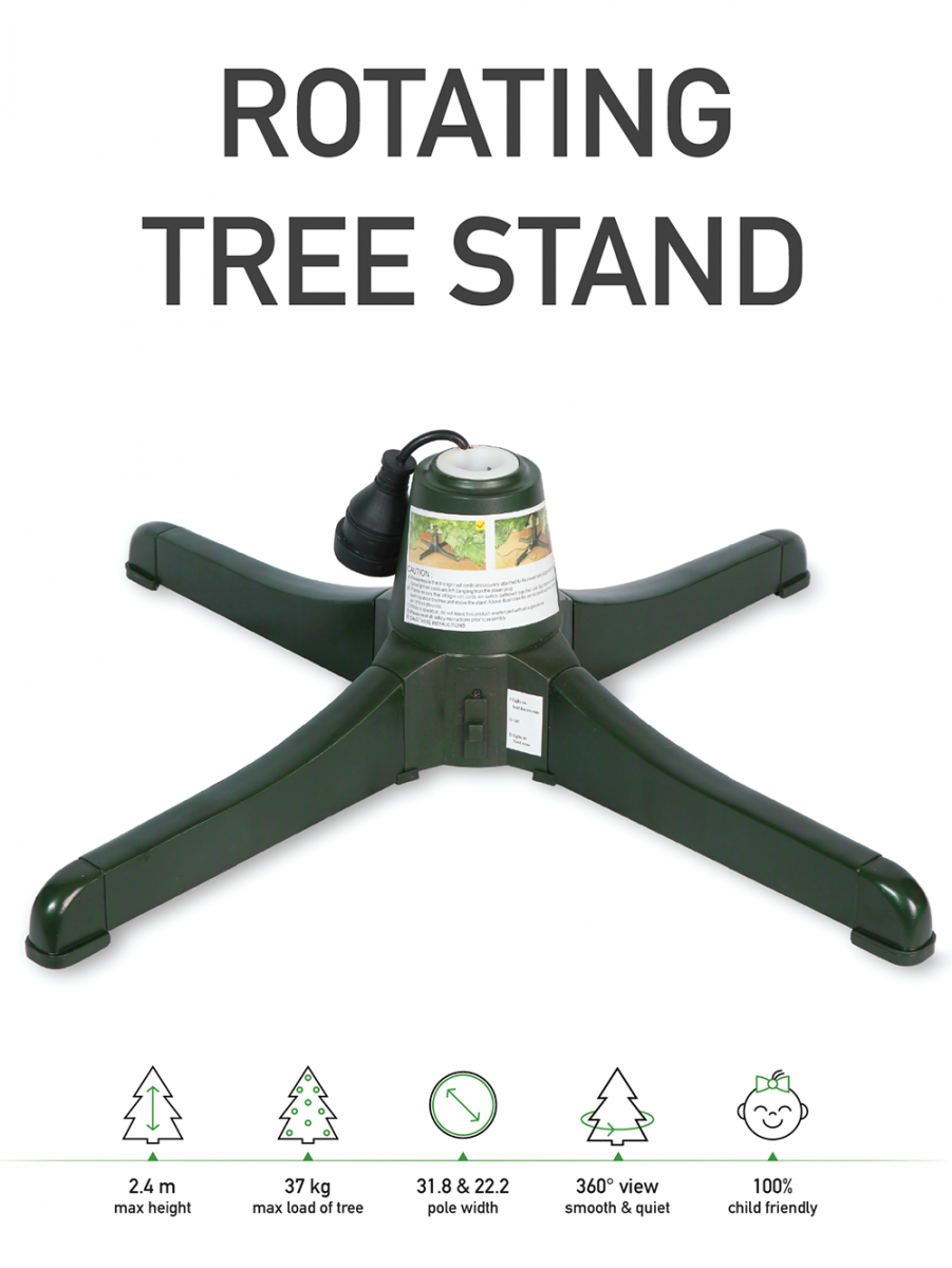 Rotating Christmas Tree Stand - Suit Trees Up To 2.4m ...
