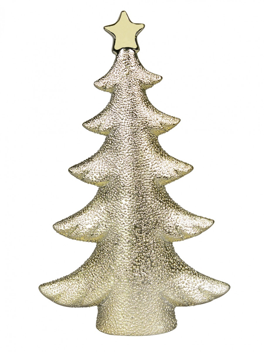 Ceramic Champagne Christmas Tree Ornament 26cm Ornaments Buy Online From The Christmas Warehouse