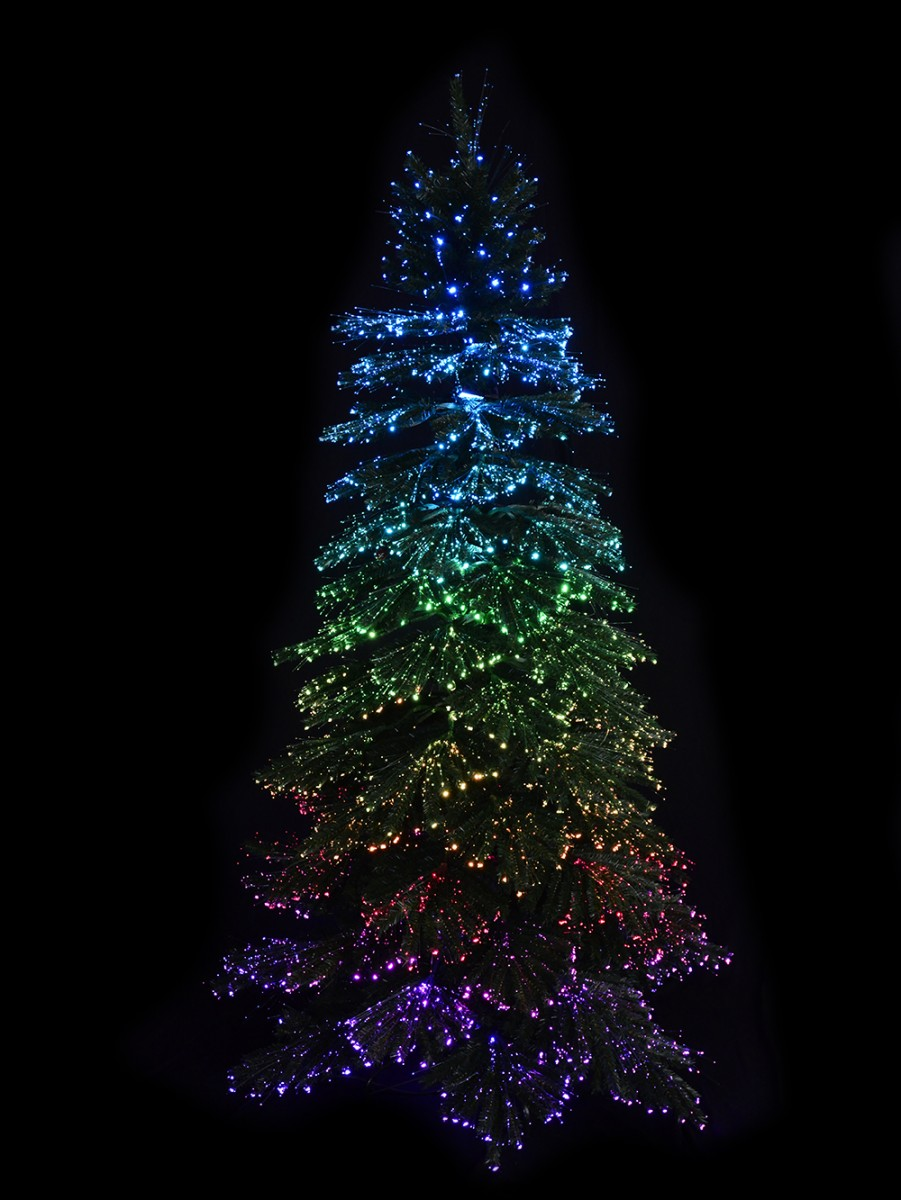 Flying santa fibre optic christmas decoration - Dynamic Starry Night Static Light Fibre Optic Tree