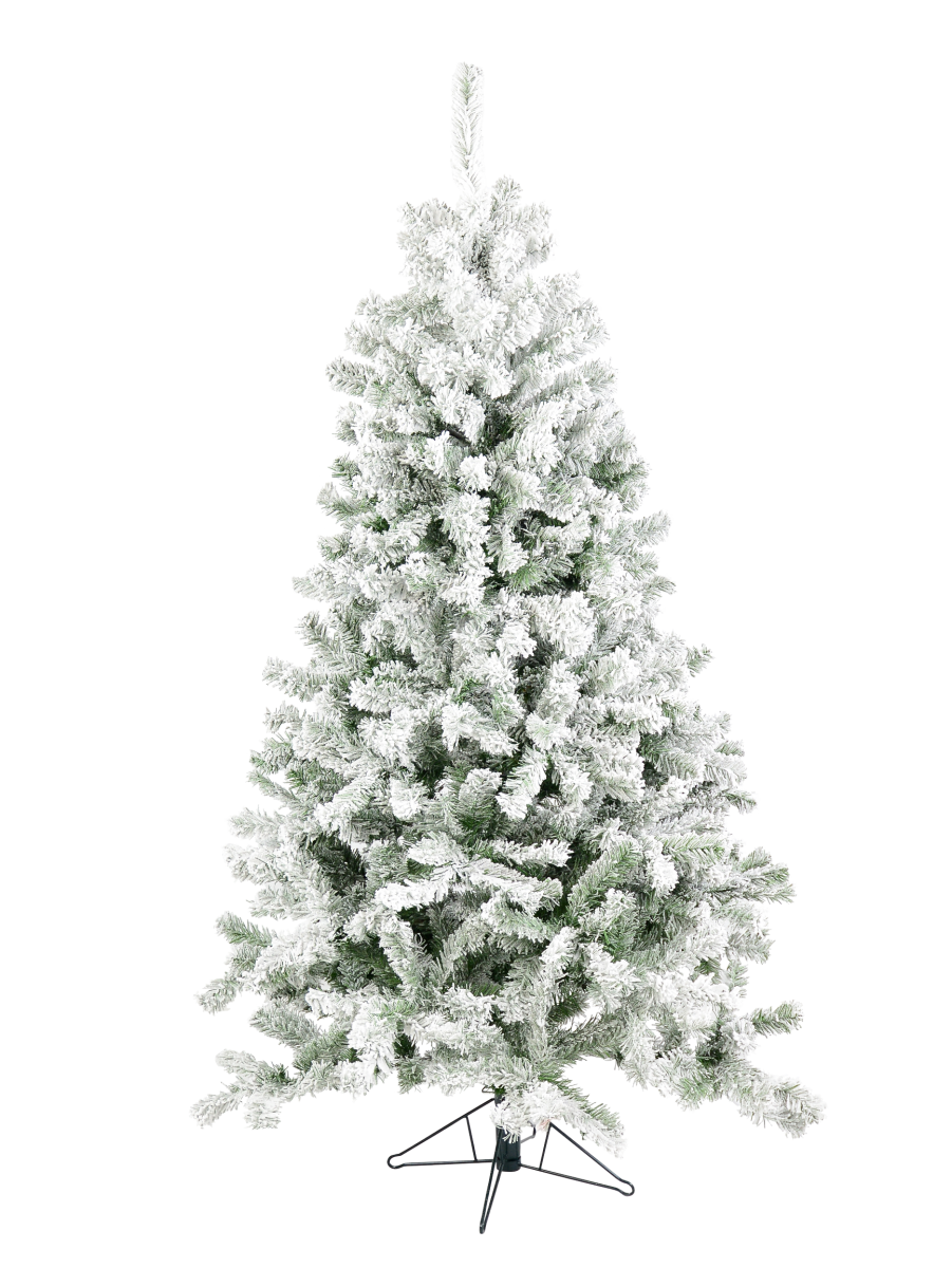 Dawn Snow Flocked Christmas Tree With 598 Tips 1 8m Christmas Trees Buy Online From The Christmas Warehouse