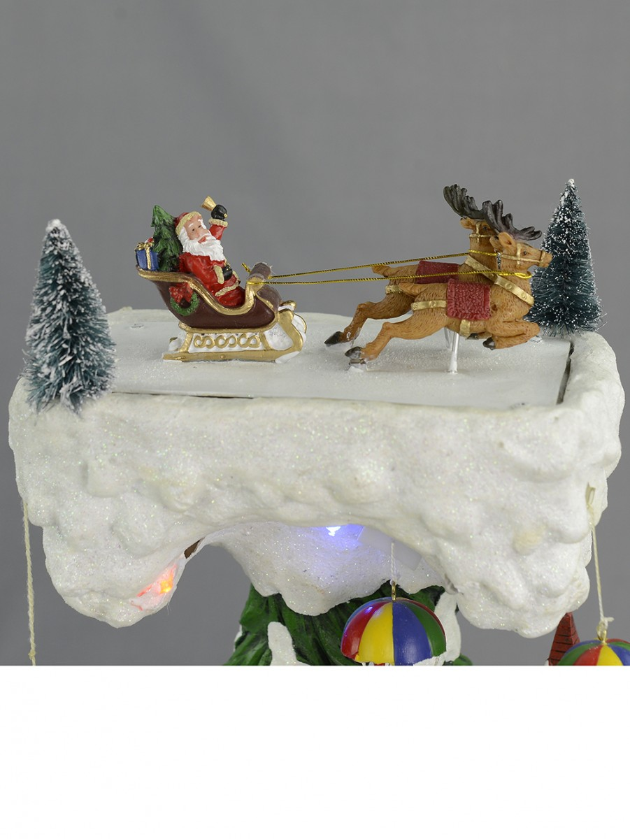 Christmas Musical Scenes Ornaments Part - 31: Illuminated, Animated U0026 Musical Christmas Winter Village Scene Ornament ...
