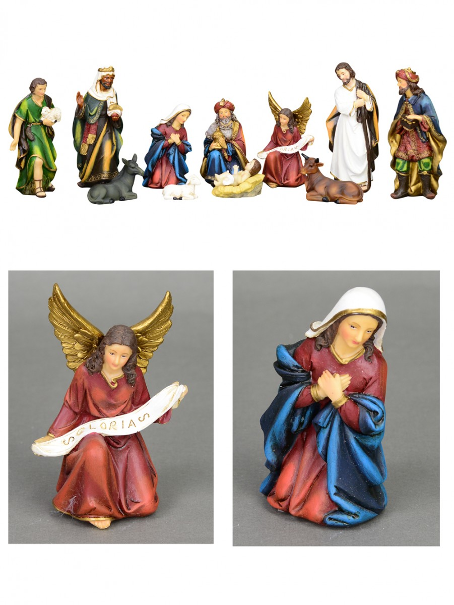 Nativity Scene Figurines With Mary Joseph Jesus 3 Wise Men 11 Piece Set Ornaments Buy Online From The Christmas Warehouse