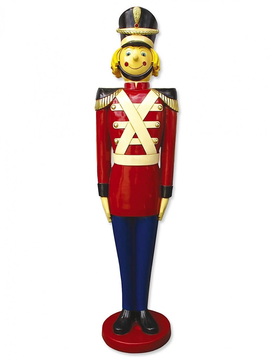 White christmas tree with blue decorations red and gold christmas - Resin Tin Soldier Decor 1 7m Large Decor Amp Inflatables