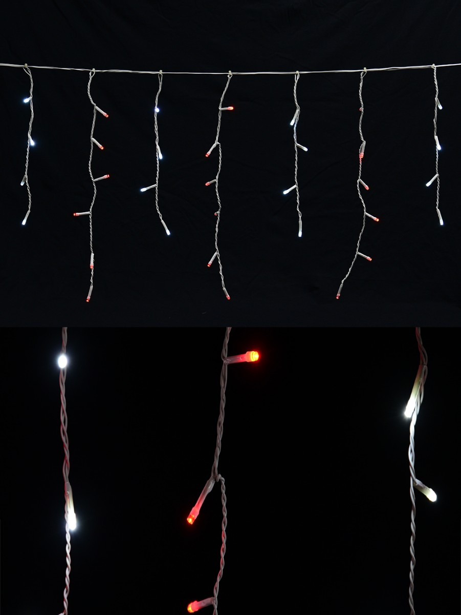 420 Red Amp Cool White Led Icicle Light 10m Christmas