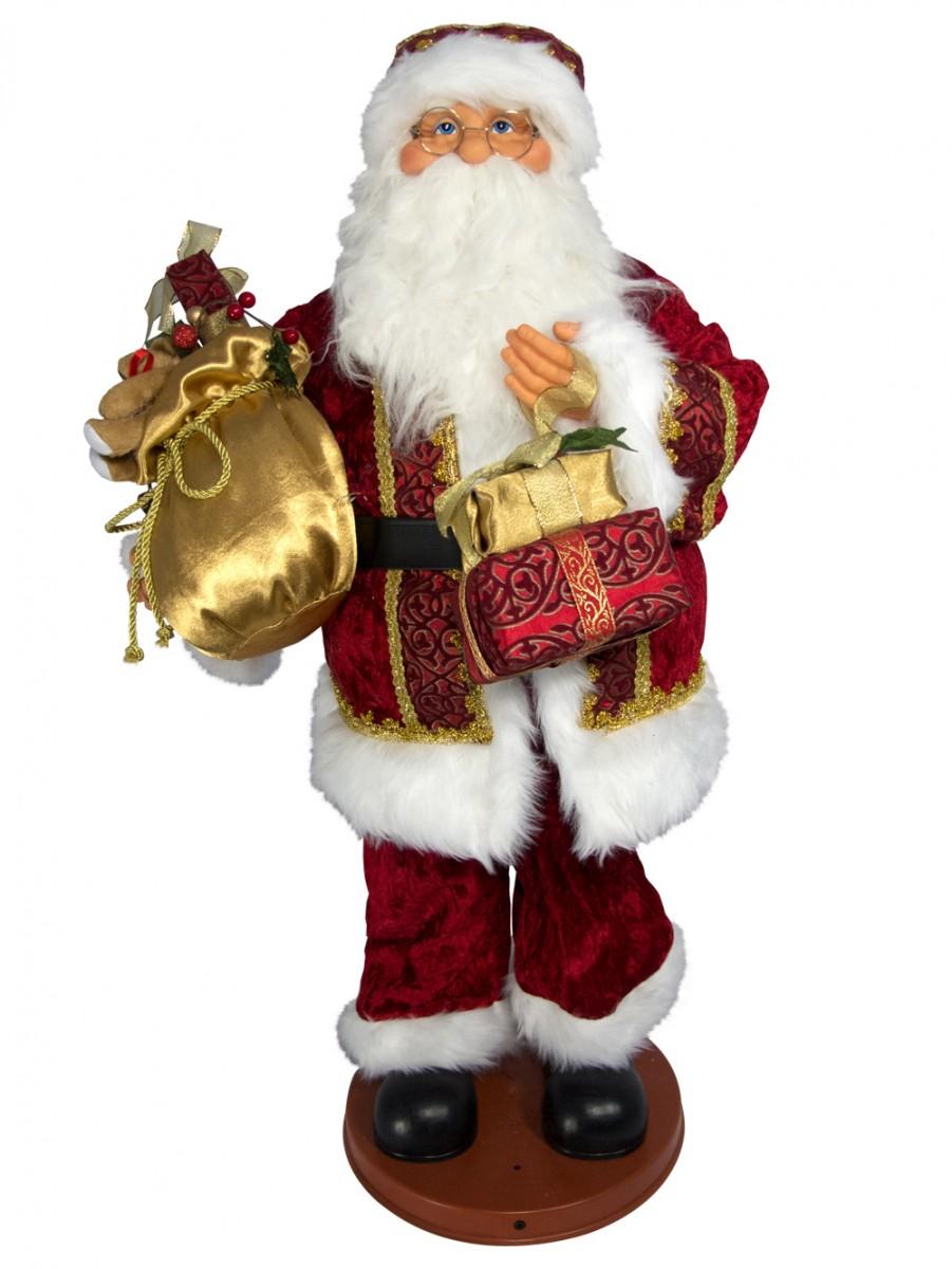 Singing Amp Dancing Santa With Sack Musical Animation 90cm