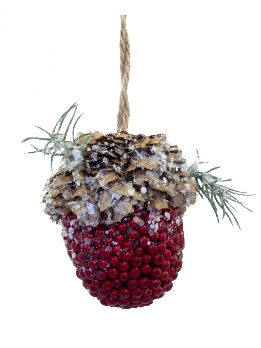 Christmas acorn hanging decoration 70mm christmas for Acorn decoration