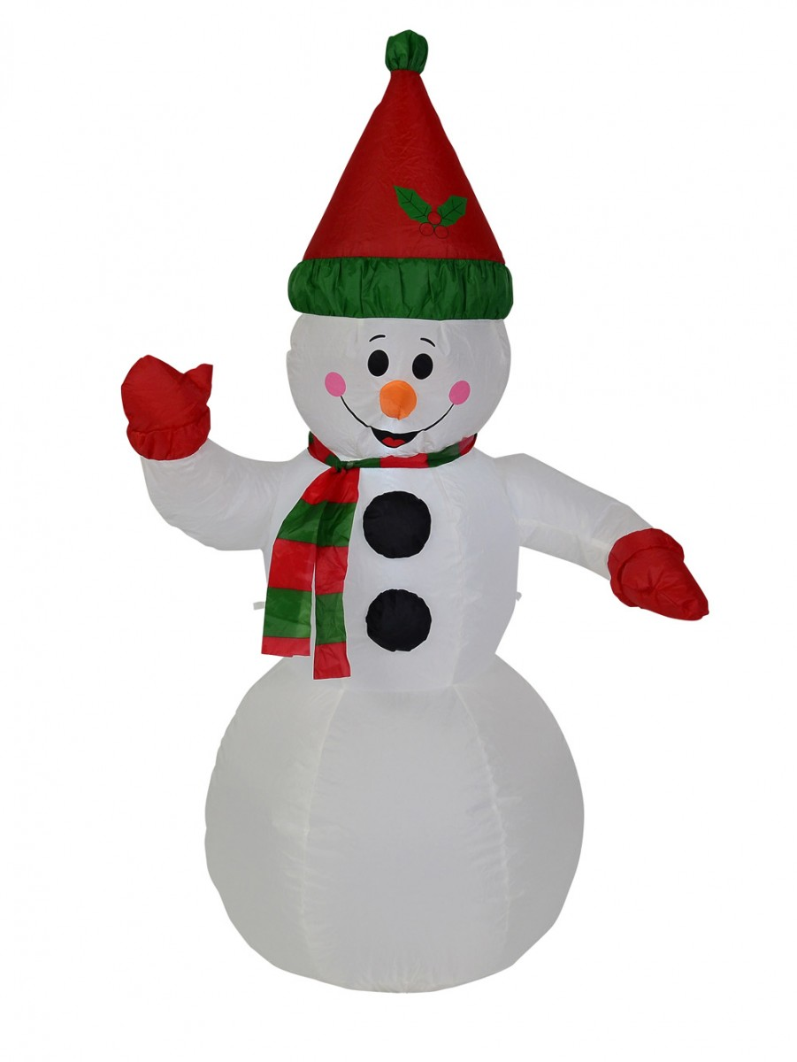 Snowman Standing - Inflatable & Illuminated 1.3m | Large Decor ...
