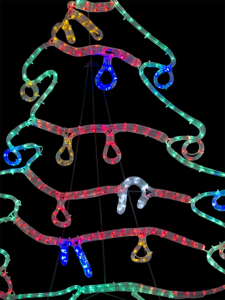 Christmas tree with decorations led rope light silhouette 12m christmas tree with decorations led rope light silhouette 12m aloadofball Gallery