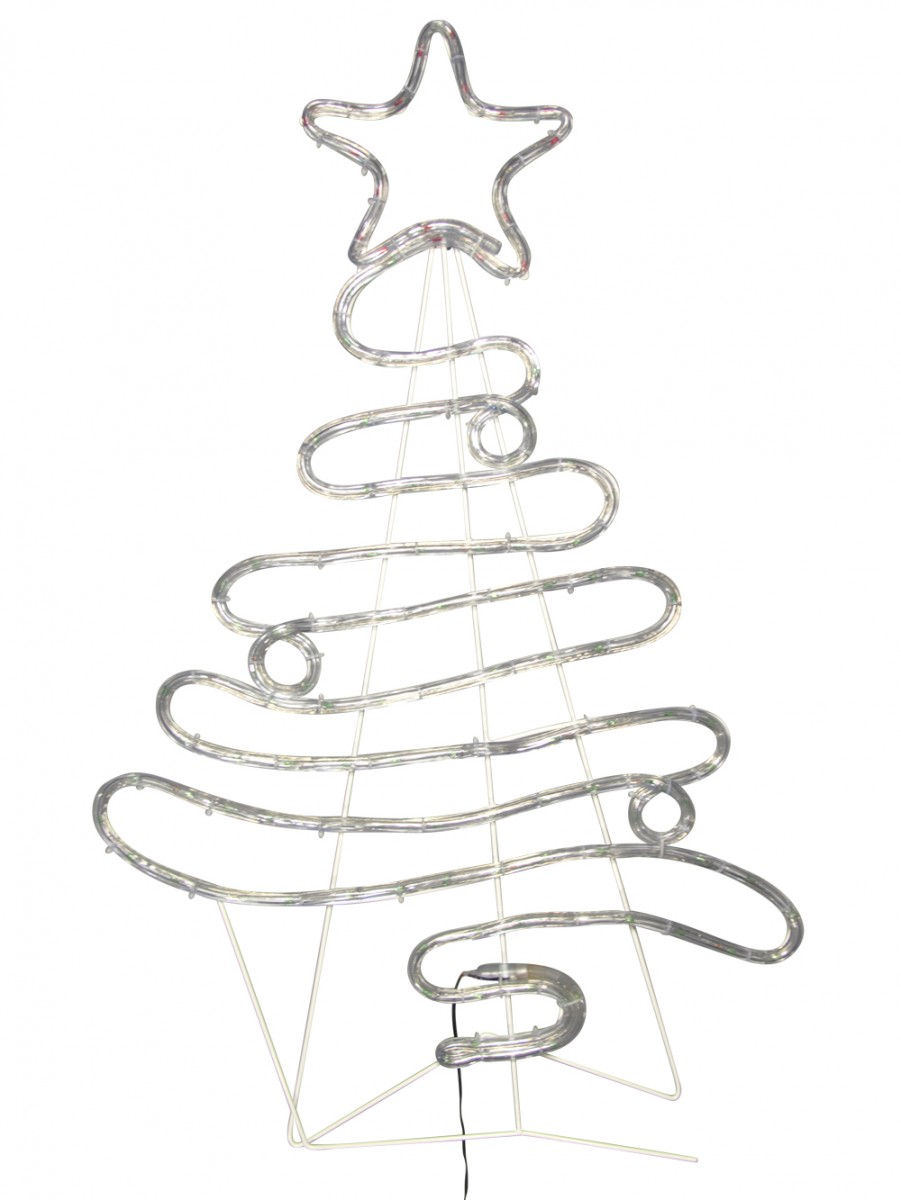 Flowing ribbon style christmas tree led rope light silhouette 88cm flowing ribbon style christmas tree led rope light silhouette 88cm aloadofball Gallery