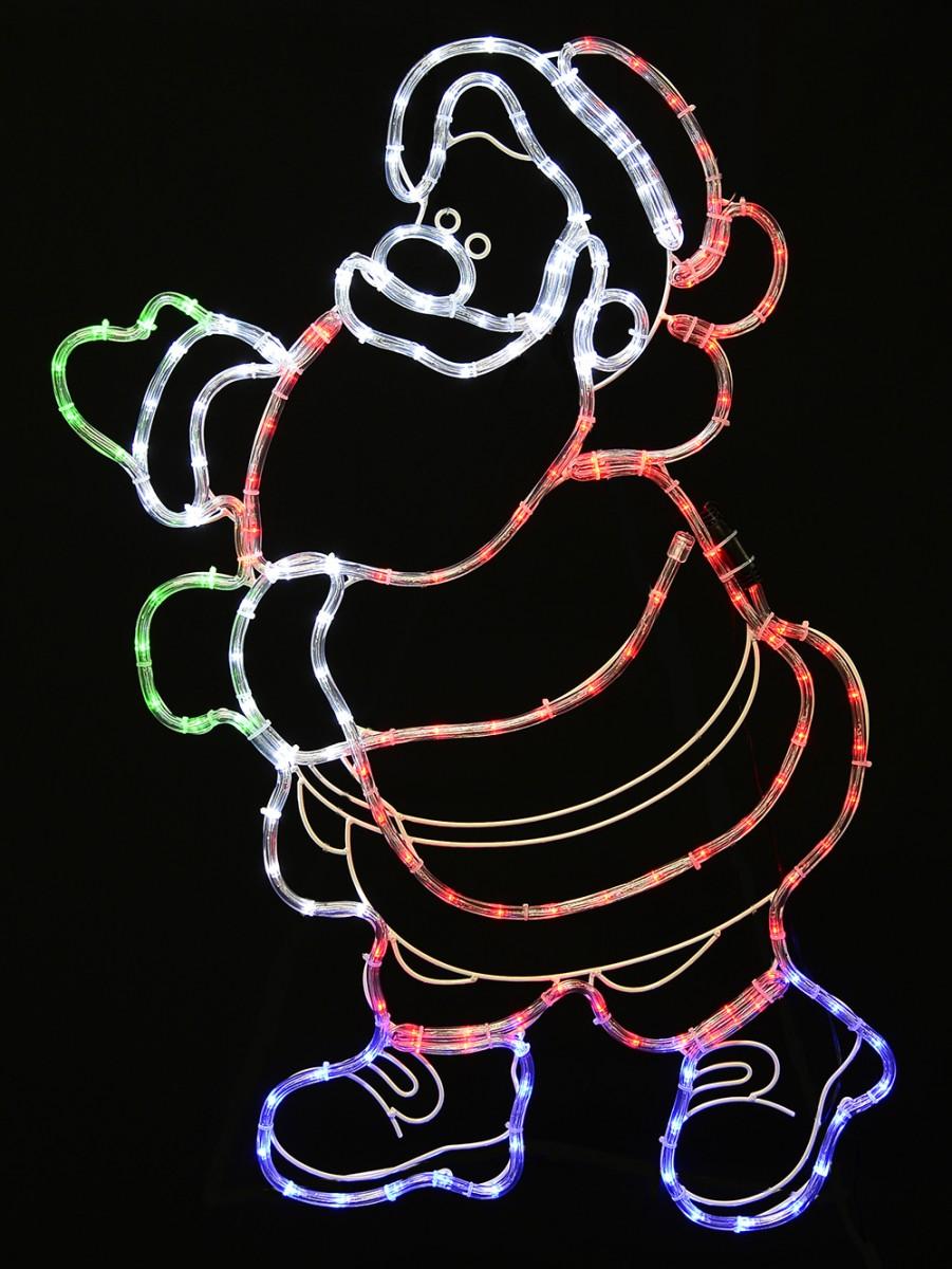 Gesturing santa rope light silhouette 92cm christmas lights gesturing santa rope light silhouette 92cm aloadofball Images