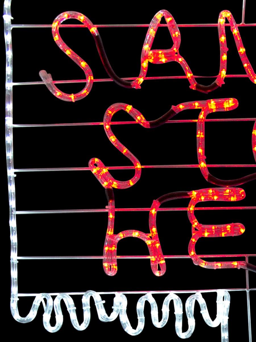 Santa stop here sign post led rope light silhouette 15m santa stop here sign post led rope light silhouette 15m aloadofball Images