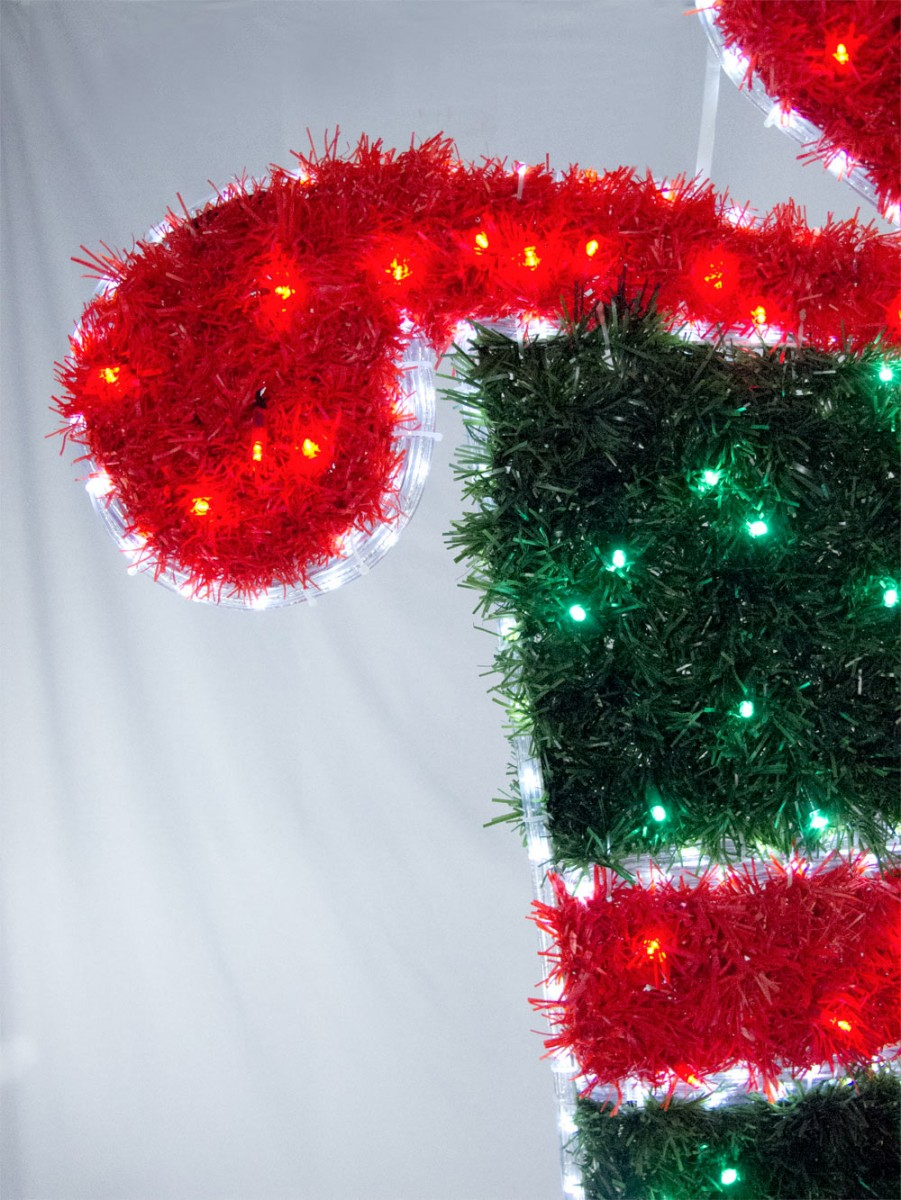 tinsel christmas present led rope light motif 11m