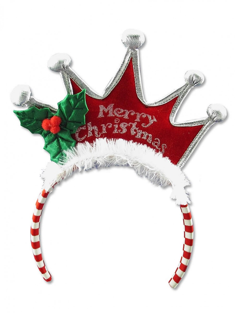 Merry Christmas Tiara Headband - 25cm | Santa Hats, Suits ...