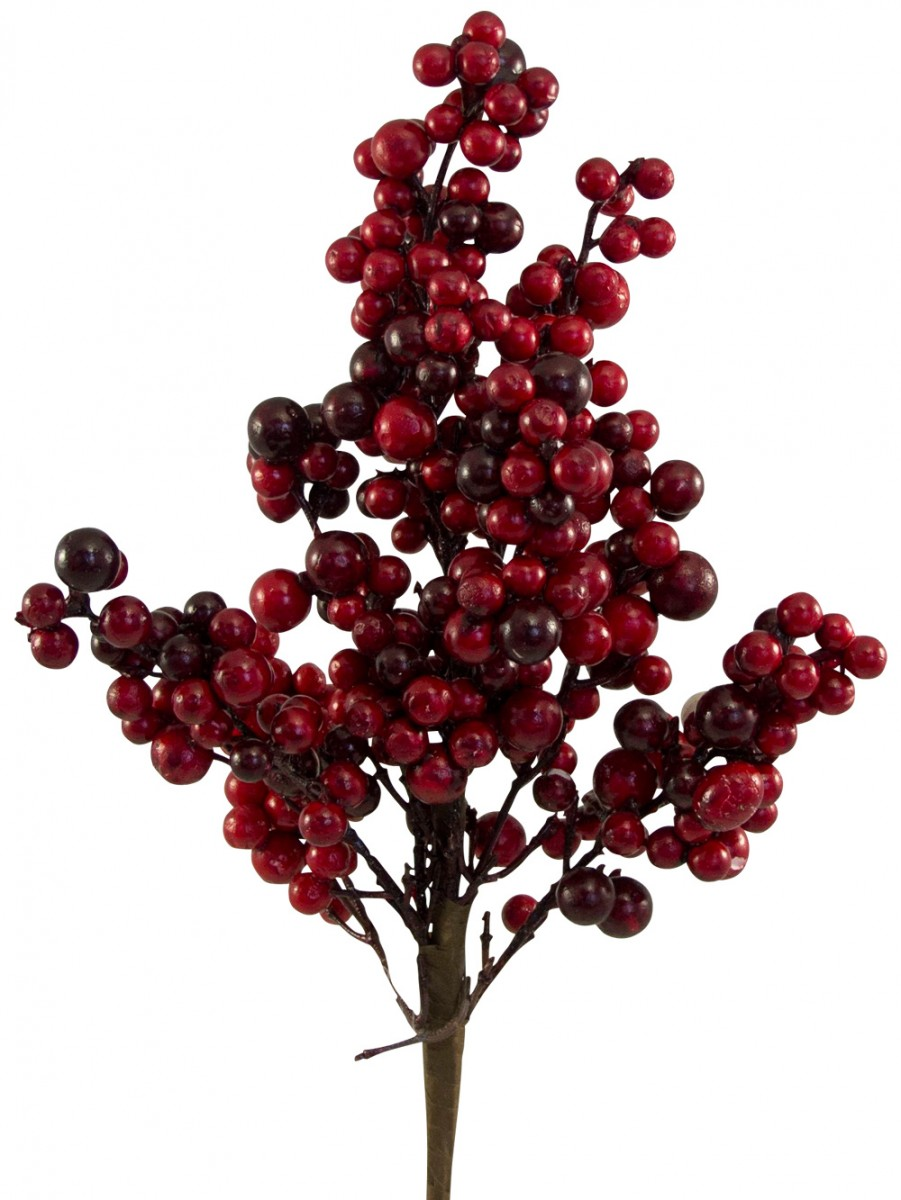 Red Berry Christmas Tree Decorations : Red berry decorative pick cm christmas decorations