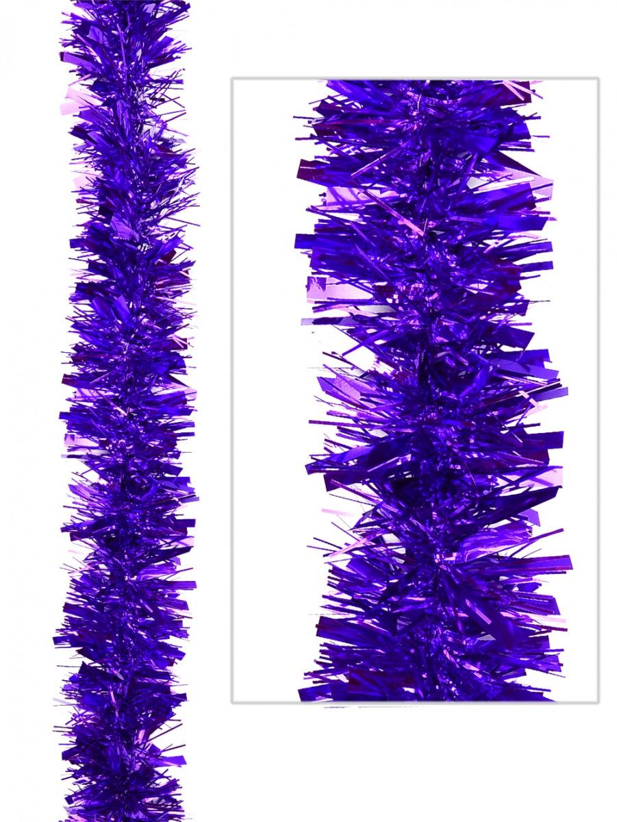 Wide thin mixed purple metallic tinsel garland m