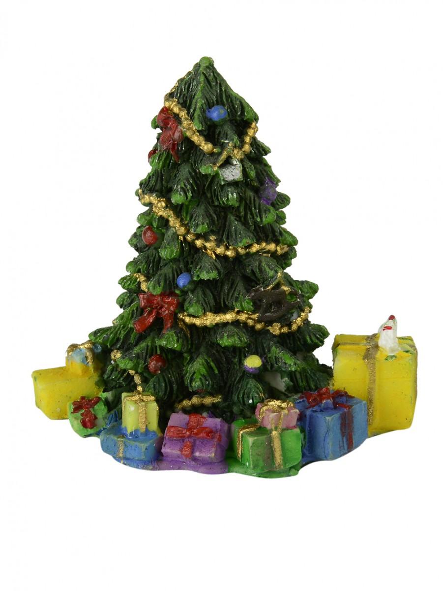 Christmas Tree Amp Presents Resin Figurine 75mm