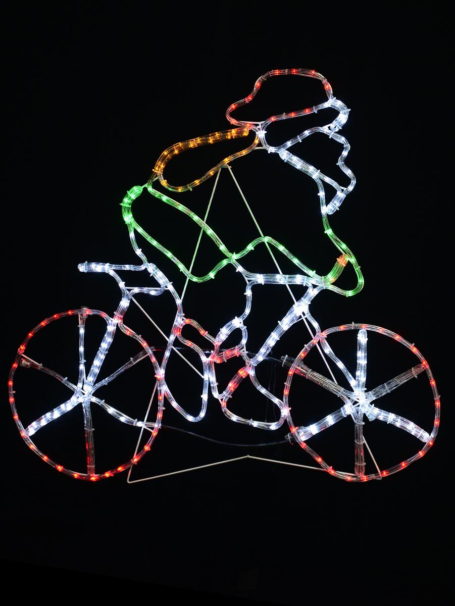 Santa riding push bike led rope light silhouette 1m christmas almost sold out santa riding push bike led rope light silhouette 1m aloadofball Images