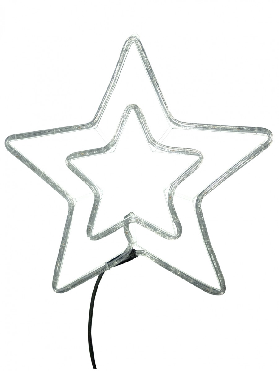 Blue cool white led double star rope light silhouette 52cm blue cool white led double star rope light silhouette 52cm aloadofball Choice Image