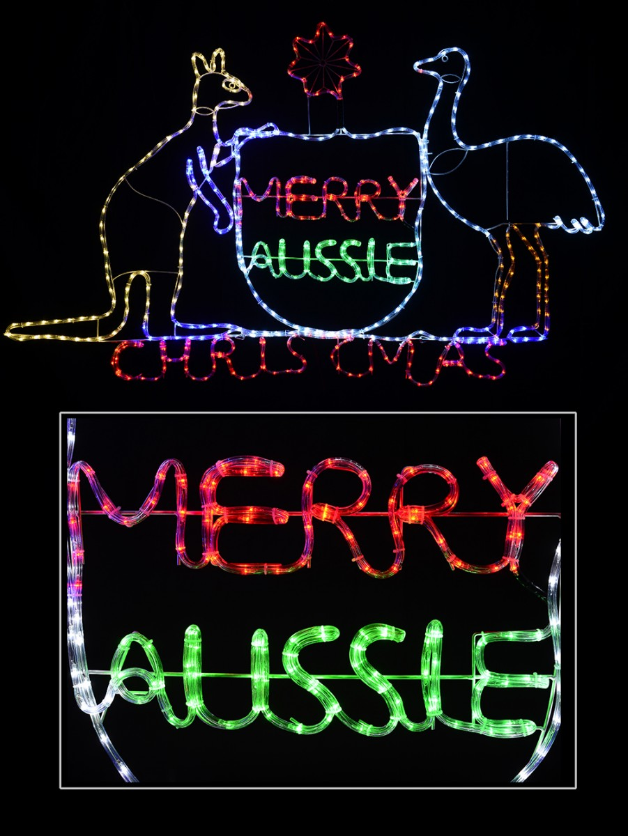 Australian coat of arms merry aussie christmas led rope light australian coat of arms merry aussie christmas led rope light silhouette 19m aloadofball Gallery