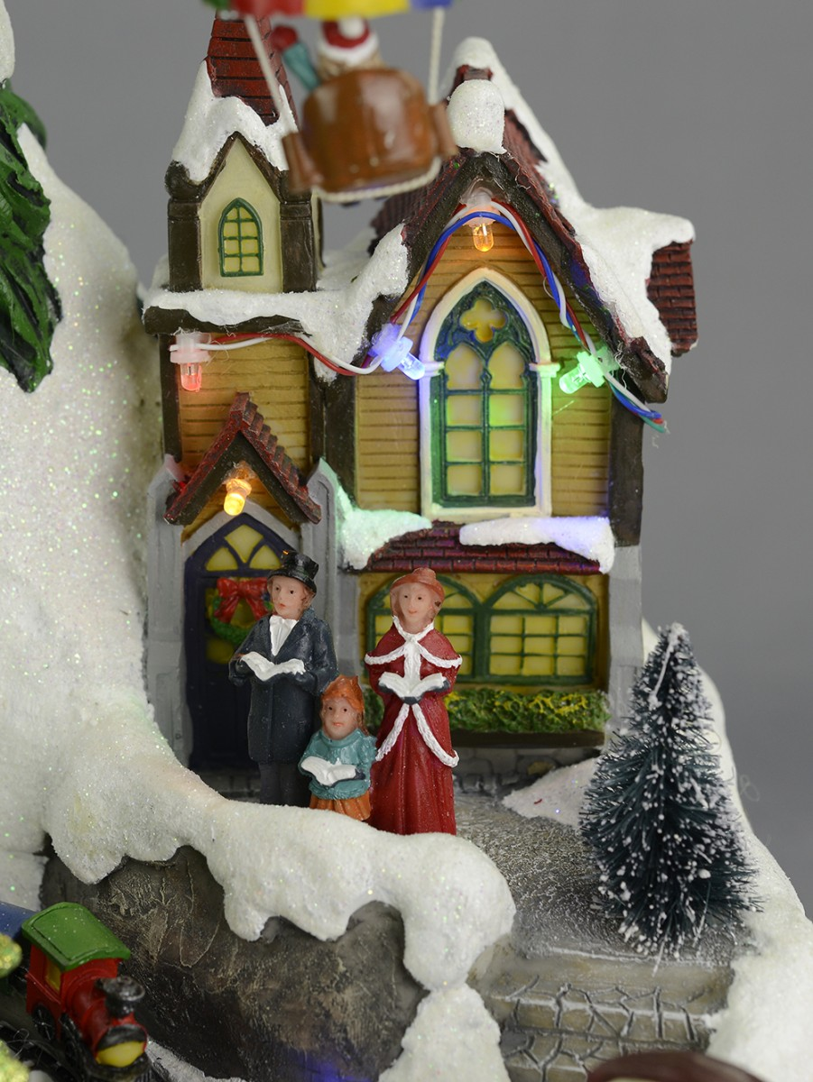 Christmas Musical Scenes Ornaments Part - 44: ... Animated U0026 Musical Christmas Winter Village Scene Ornament ...